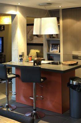 salon appartement tignes ilot cuisine